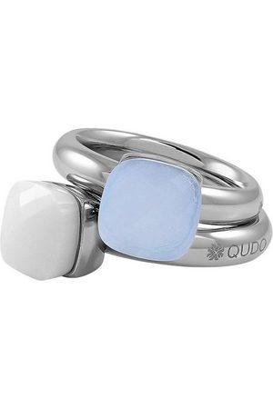 QUDO Ring-Set »Firenze big, O600087, O600088, O600089, O600090, O600091« (Set, 2-tlg), mit Zirkonia
