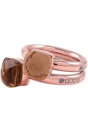 QUDO Ring-Set »Firenze small, O600092, O600093, O600094, O600095, O600096« (Set, 2-tlg), mit Zirkonia