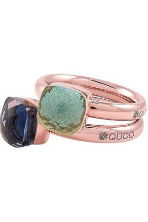 QUDO Ring-Set »Firenze small, O600097, O600098, O600099, O600100, O600101« (Set, 2-tlg), mit Zirkonia