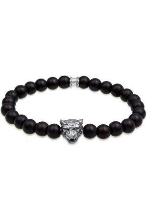 Kuzzoi Armband »Herren Tiger Kopf Onyx Edelsteine Black 925 Silber«