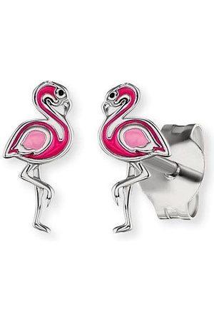 HERZENGEL Paar Ohrstecker »Flamingo, HEE-FLAMINGO-ST«, mit Emaille