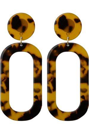 Gemshine Paar Ohrhänger »vergoldet Schildpatt / Resin«, Art Deco