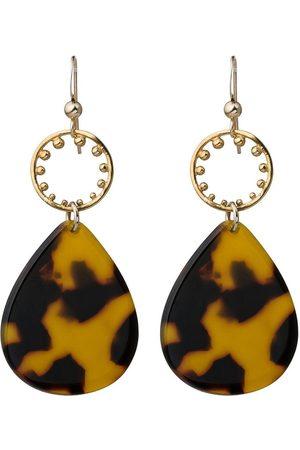 Gemshine Paar Ohrhänger »Schildpatt / Resin 925 vergoldet«, Art Deco