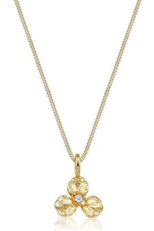Diamore Collierkettchen »3D Blume Anhänger Diamant (0.015 ct) 585 Gelbgold«