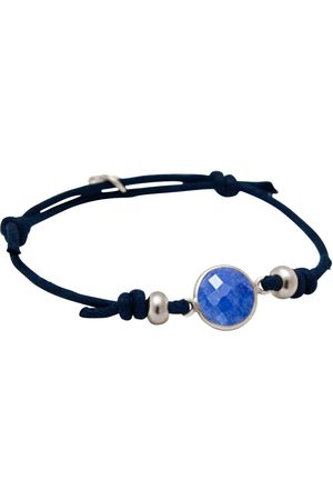 Gemshine Wickelarmband »Knoten blauer Saphir in 925 - Made in Germany«