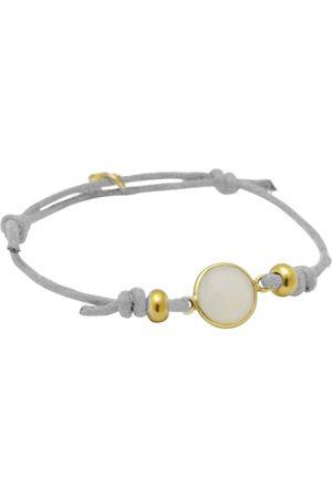Gemshine Wickelarmband »Knoten weißer Jade in 925 Silber - Made in Germany«