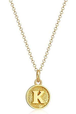 Elli Collierkettchen »Buchstabe K Initialen Vintage Plättchen 925 Silber«