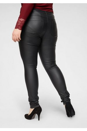 Carmakoma Skinny-fit-Jeans »Punk« mit edel glänzender Beschichtung