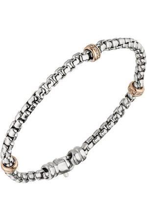 Jobo Goldarmband, 585 bicolor mit 39 Diamanten 19 cm