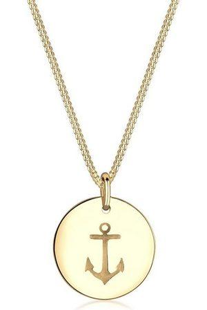 Elli Collierkettchen »Anker Münze Maritim 925 Silber«
