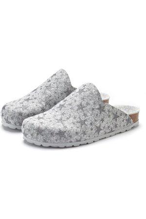 Lascana Hausschuh Pantolette aus Filz mit wärmenden Korkfußbett und Sternenprint