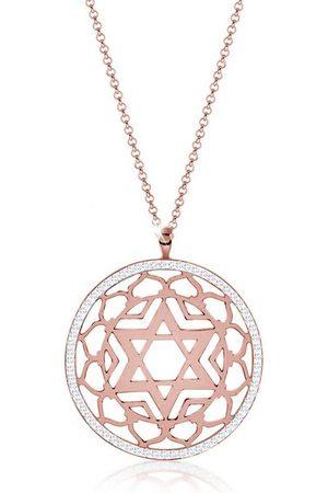 Nenalina Kette mit Anhänger »Anahata Chakra Swarovski® Kristalle 925 Silber«