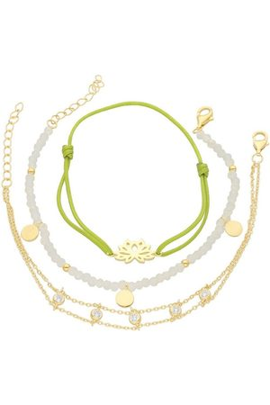 Smart Jewel Armband Set »Armbänder 3-teilig, Kristallsteine und Zirkonia, 925«