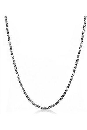 Kuzzoi Silberkette »Herrn Panzerkette Oxidiert Massiv Mann 925 Silber«