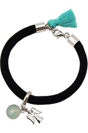Gemshine Charm-Armband »Engel Schutzengel Aqua Chalcedon«, Made in Germany