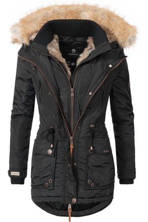 Wintermantel »Grinsekatze« stylischer Winter Parka m. edlem Fellimitat