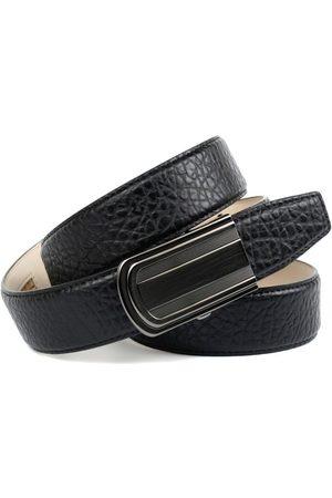 Anthoni Crown Ledergürtel Schicker Herrengürtel mit eleganter Schließe und markanter Prägung in Walross-Optik