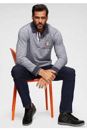 Man's World Langarm-Poloshirt