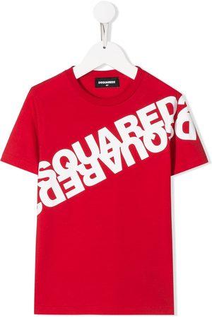 Dsquared2 Jungen T-Shirts, Polos & Longsleeves - T-Shirt mit gespiegeltem Logo