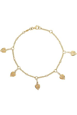Kiki Mcdonough 18kt 'Lauren' Gelbgoldarmband mit Diamanten