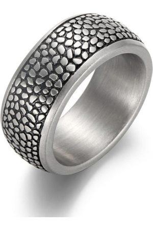 Firetti Fingerring »10,0 mm, Reptilienoptik, matt, strukturiert,«