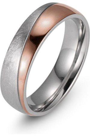 Firetti Trauring »7,0 mm, mit Vertiefung, teilweise IP-beschichtet, roségoldfarben, Glanzoptik, gekratzt, strukturiert«