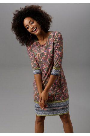 Aniston Jerseykleid im farbenfrohen Muster