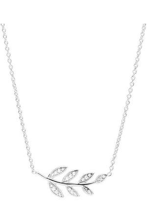 Fossil Halsketten - Kette mit Anhänger »STERLING SILVER - Zweig, JFS00485040«, mit Zirkonia
