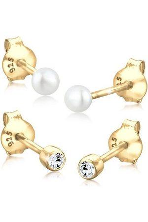 Elli Uhren - Perlenohrringe »Set Basic Perle Swarovski® Kristalle 925 «