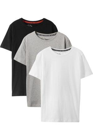 bonprix Jungen T-Shirts, Polos & Longsleeves - Jungen Basic T-Shirt aus Bio-Baumwolle (3er-Pack)