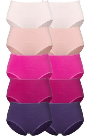 Go In Damen Slips - Taillenslip (10 Stück) in frischen Uni-Farben
