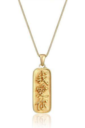 Elli Collierkettchen »Münze Chinesische Schriftzeichen Ich liebe Dich«