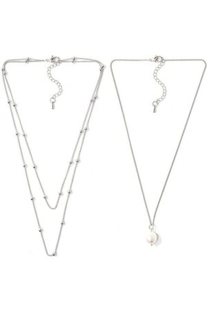 J. Jayz Collier-Set »mehrreihig mit Metallkugeln und Perle, einzeln tragbar« (Set, 2-tlg), mit Süßwasserzuchtperle