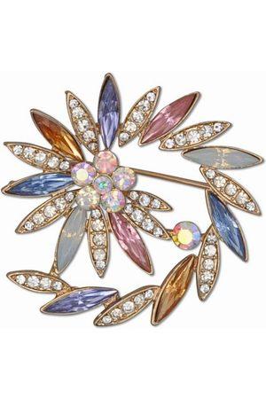 J. Jayz Brosche »spiralförmige Optik, Steine in Mandelform«, mit Glassteinen
