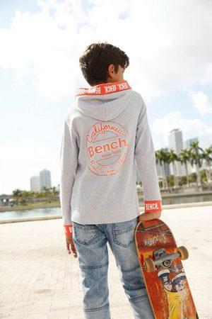 Bench Sweatshirt mit Logo-Druck Bündchen