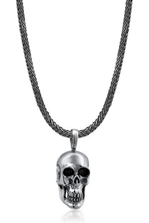 Kuzzoi Herren Halsketten - Kette mit Anhänger »Herren Schlangenkette Totenkopf Anhänger «