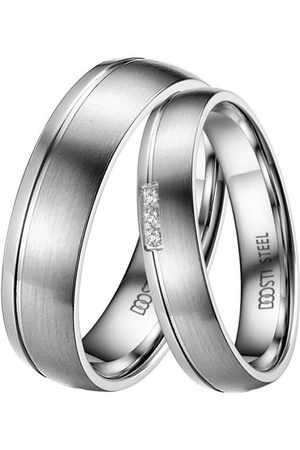 DOOSTI Trauring »ST-038-D, ST-038-H, DAINTY«, Made in Germany - wahlweise mit oder ohne Zirkonia
