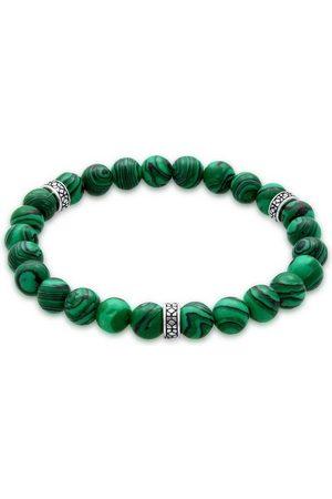 Kuzzoi Armband »Herren Achat Malachit Bead Oxidiert 925 «