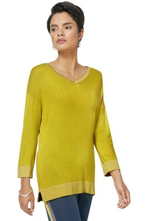 CRÉATION L V-Ausschnitt-Pullover »Viskose-Seiden-Pullover«