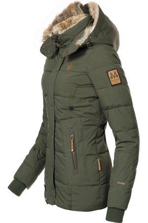 Marikoo Winterjacke »Nekoo« stylische Damen Steppjacke mit großer Kapuze