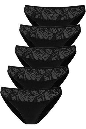 vivance collection Bikinislip (5 Stück) mit floraler Spitze vorn