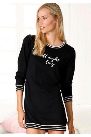 s.Oliver Damen Nachthemden - Nachthemd mit Rippstrickbündchen