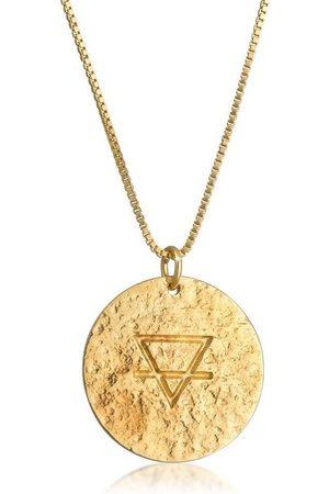 Elli Collierkettchen »Erde Element Coins Plättchen Vintage 925 «
