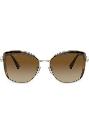 Bvlgari Eckige 'Serpenti' Sonnenbrille