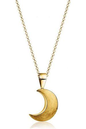 Nenalina Collierkettchen »Halbmond Sichel Astro Trend Gebürstet 925 Silber«