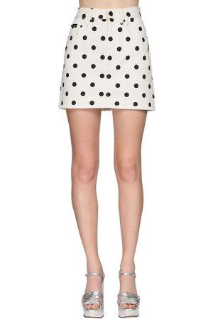 Marc Jacobs Polka Dot Denim Mini Skirt