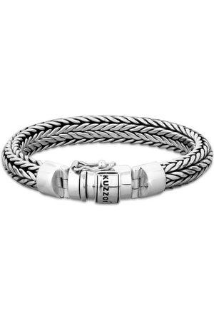 Kuzzoi Armband »Herren Kastenverschluss Zopfglieder 925er «