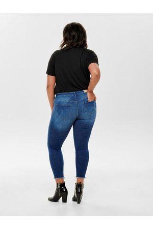 Carmakoma Skinny-fit-Jeans »Willy« mit Fransensaum