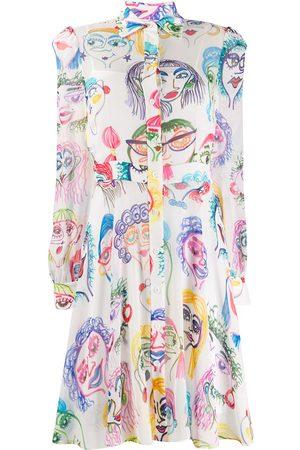Moschino Kleid mit Skizzen-Print