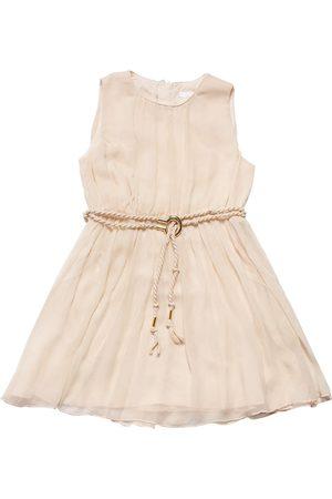 Chloé Mädchen Ärmellose Kleider - Ärmelloses Kleid Aus Seidenkrepp